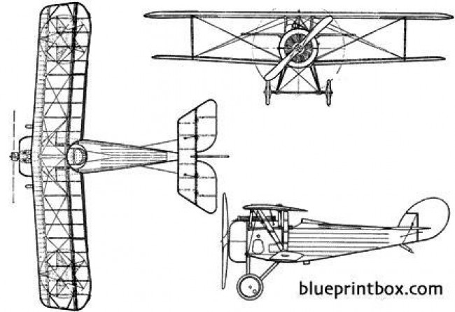 nieuport 24 biplane model airplane plan