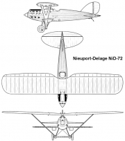 nieuport nid72 3v model airplane plan