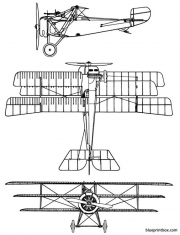 nieuport xvii triplan model airplane plan