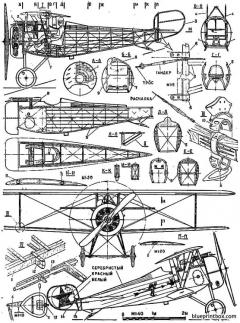 nieuport xxiv model airplane plan