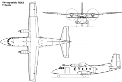 nord262 3v model airplane plan
