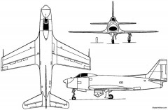 nord 2200 1949 france model airplane plan
