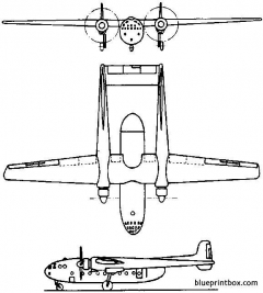 nord 2500 noratlas 1949 france model airplane plan