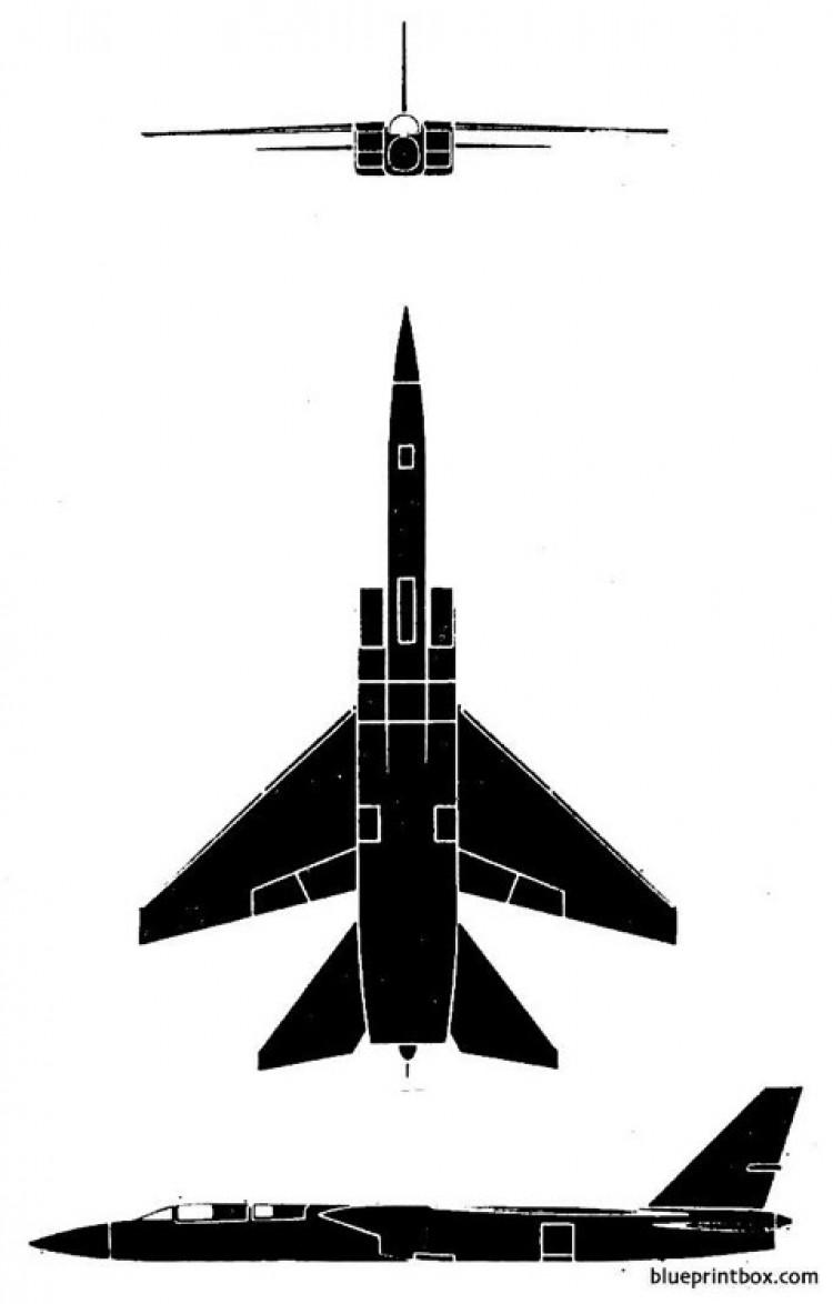 north american a3j 1 vigilante model airplane plan