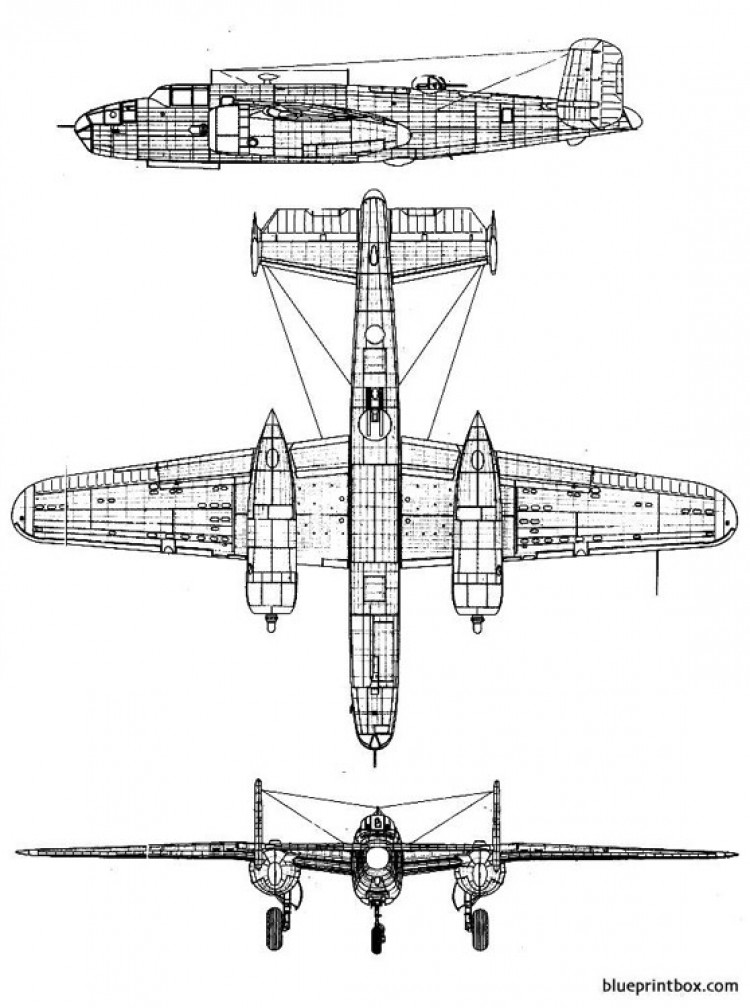 north american b 25c mitchell 2 model airplane plan