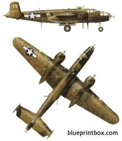 north american b 25j 1 mitchell model airplane plan