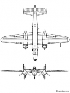 north american b 25j mitchell 2 model airplane plan