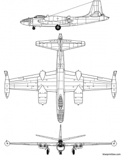 north american b 45 tornado model airplane plan
