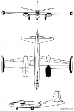north american b 45 tornado 1947 usa model airplane plan