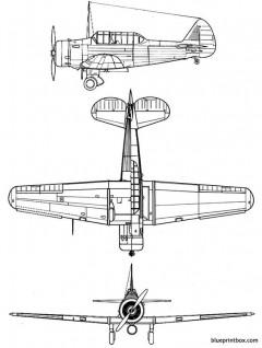 north american bt 9 model airplane plan
