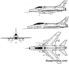 north american f 100 super sabre 3 model airplane plan