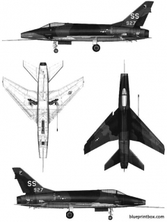 north american f 100d super saber model airplane plan