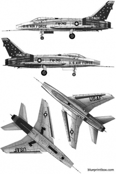 north american f 100d super sabre model airplane plan