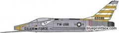 north american f 100d super sabre 2 model airplane plan