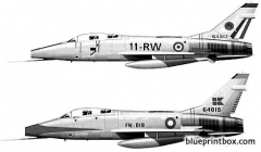 north american f 100f super sabre model airplane plan