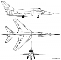north american f 107a model airplane plan