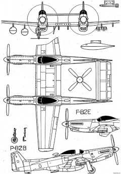 north american f 82 twin mustang 3 model airplane plan
