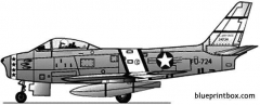north american f 86 sabre 4 model airplane plan