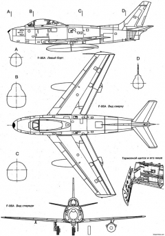 north american f 86 sabre 5 model airplane plan