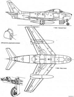 north american f 86 sabre 6 model airplane plan