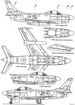north american f 86 sabre 7 model airplane plan