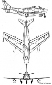 north american f 86a sabre model airplane plan