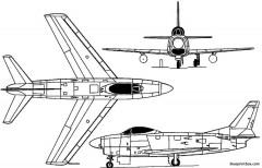 north american f 86d  yf 95 dog sabre 1949 usa model airplane plan