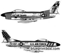 north american f 86d sabre dog model airplane plan