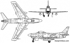north american f 86d sabre dog 2 2 model airplane plan