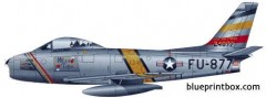 north american f 86f sabre jet model airplane plan