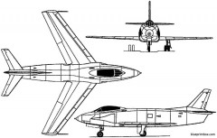 north american f 93 1950 usa model airplane plan
