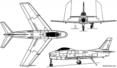north american fj 2 3 4 fury 1952 usa model airplane plan