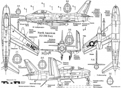 north american fj 3m fury model airplane plan