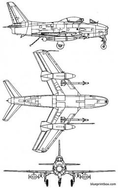 north american fj 3m fury model airplane plan
