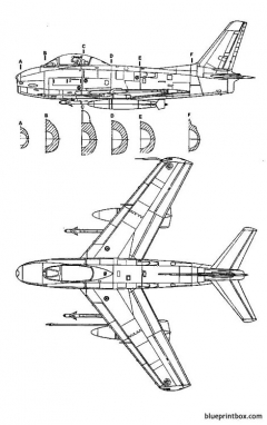 north american fj 3m fury 2 model airplane plan