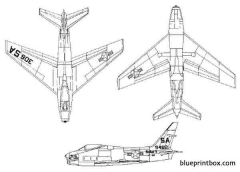 north american fj fury model airplane plan