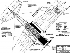 north american o 47a model airplane plan