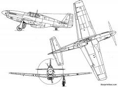 north american p 51b mustang model airplane plan