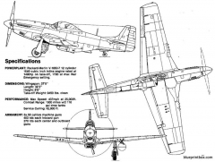 north american p 51d mustang model airplane plan