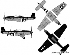 north american p 51d mustang ii model airplane plan