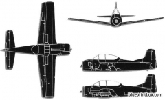 north american t 28 trojan model airplane plan