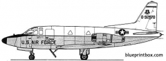 north american t 39 sabreliner model airplane plan