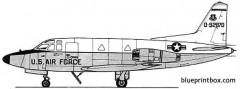 north american t 39 sabreliner model airplane plan