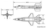 north american x 15 2 model airplane plan