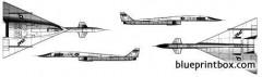 north american xb 70 valkirye model airplane plan