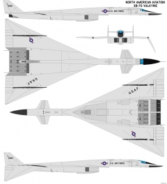 north american xb 70 valkyrie 2 model airplane plan