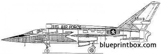 north american xf 107a model airplane plan