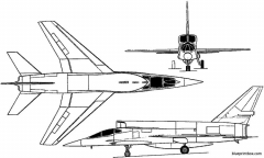 north american yf 107 ultra sabre 1957 usa model airplane plan