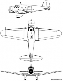 northrop delta model airplane plan