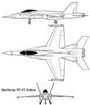 northrop f17 3v model airplane plan